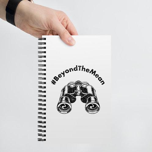 #BeyondTheMean Spiral notebook