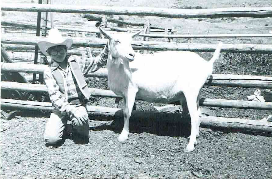The author with a goat in 1979