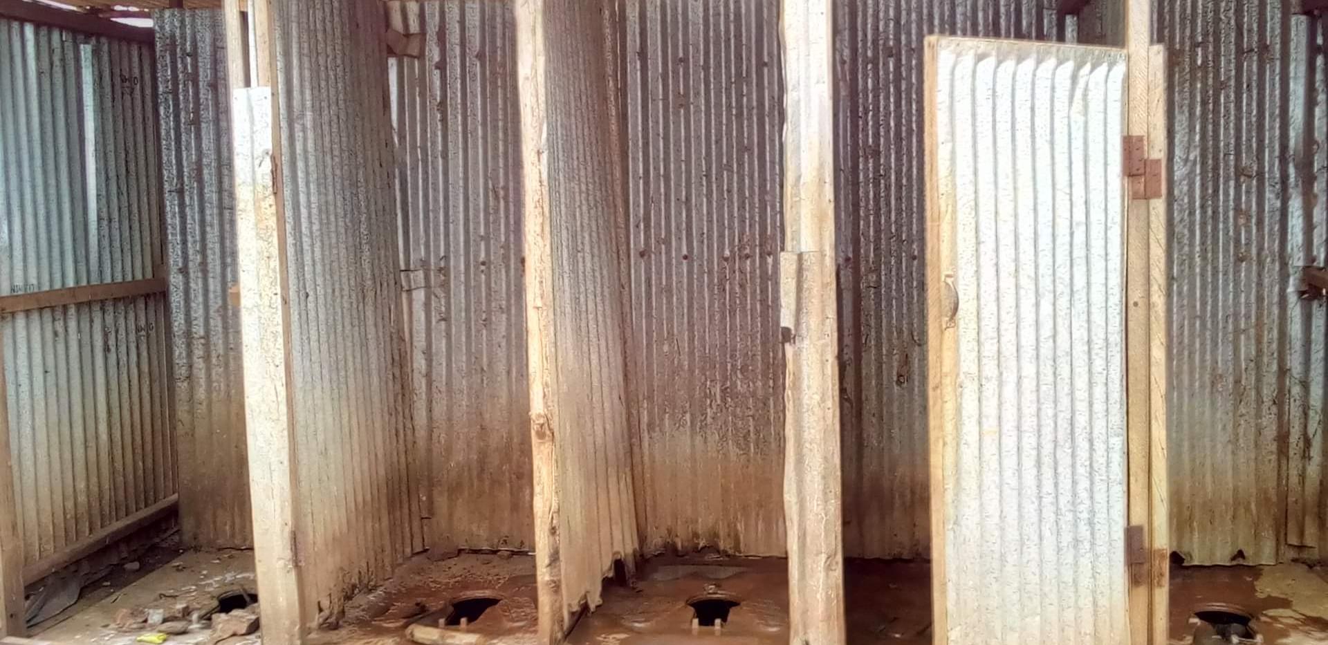 Latrines in Refugees camp in  Ethiopia.j