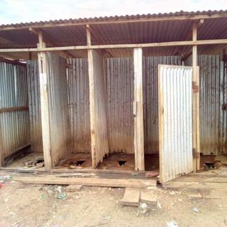 Latrines in Refugees camp in Ethiopia