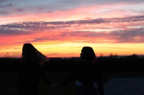 Solnedgang på Vesterdal
