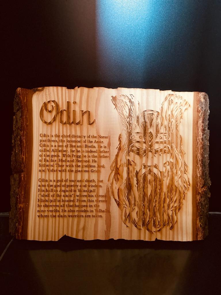 Holz gelasert