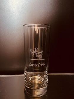 Glas gelasert