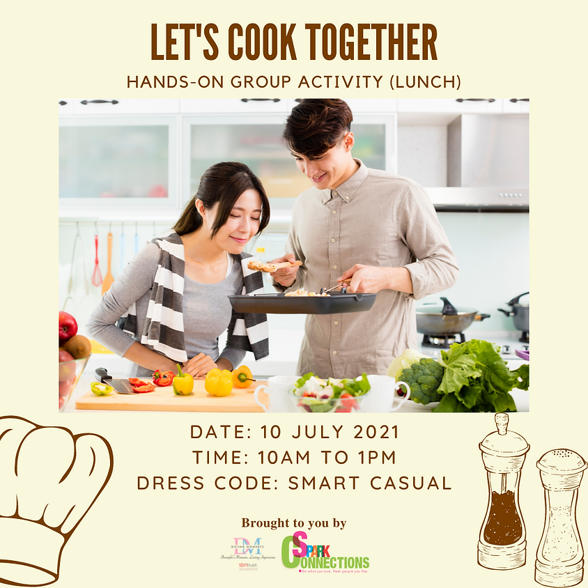 Let's Cook Together (Lunch) (LAST SLOT FOR GENTS)