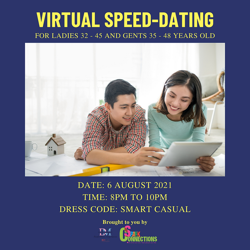 Virtual Speed Dating (F 32 - 45, M 35 - 48) (CALLING FOR GENTS)
