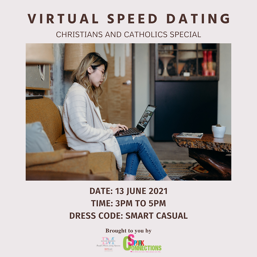 Virtual Speed-Dating: Christians & Catholics Special (LAST SLOT FOR GENTS)