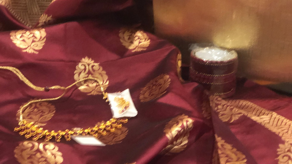 Gift Bag - Traditional Sari with matching bangles and necklace