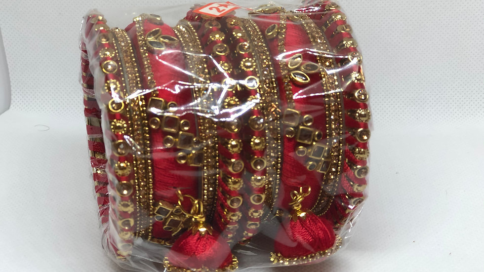 Bangles - Red - Size 2.8