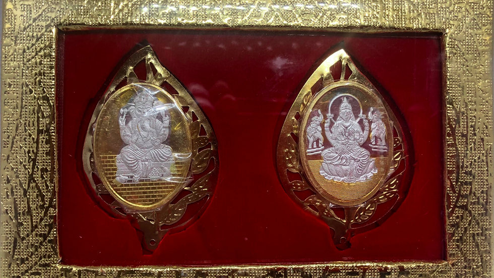Ganesha Laxmi Silver Coin - 999 Pure Silver Fancy Coins
