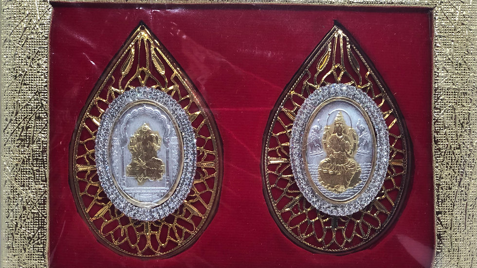 Pure silver Ganesh Laxmi coins - 10 grams