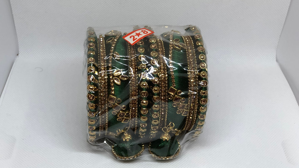 Bangles - Dark Green - Size 2.8