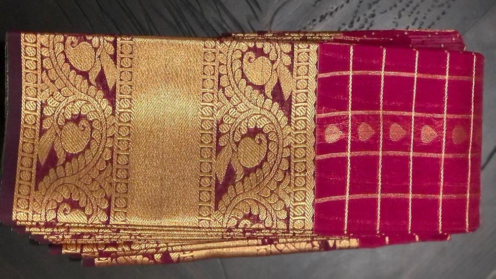 Beautiful dark pink sari