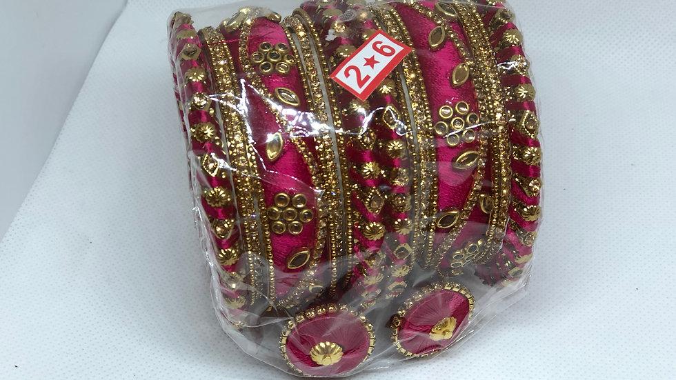 Bangles - Dark Pink - Size 2.6