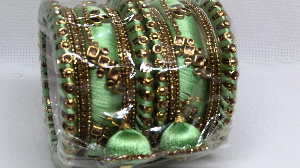 Bangles - Light Flourescent green - Size 2.8