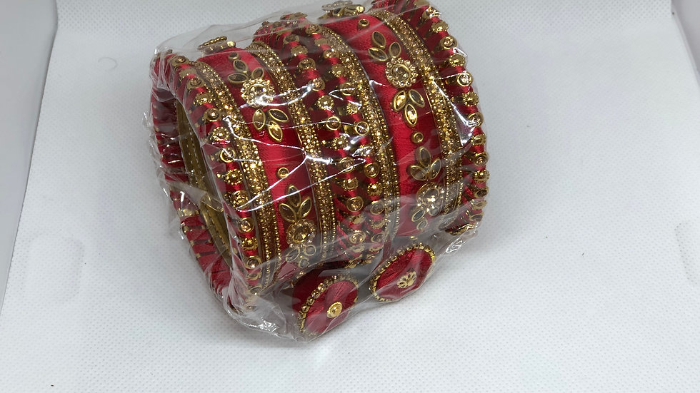 Bangles - Red - Size 2.6