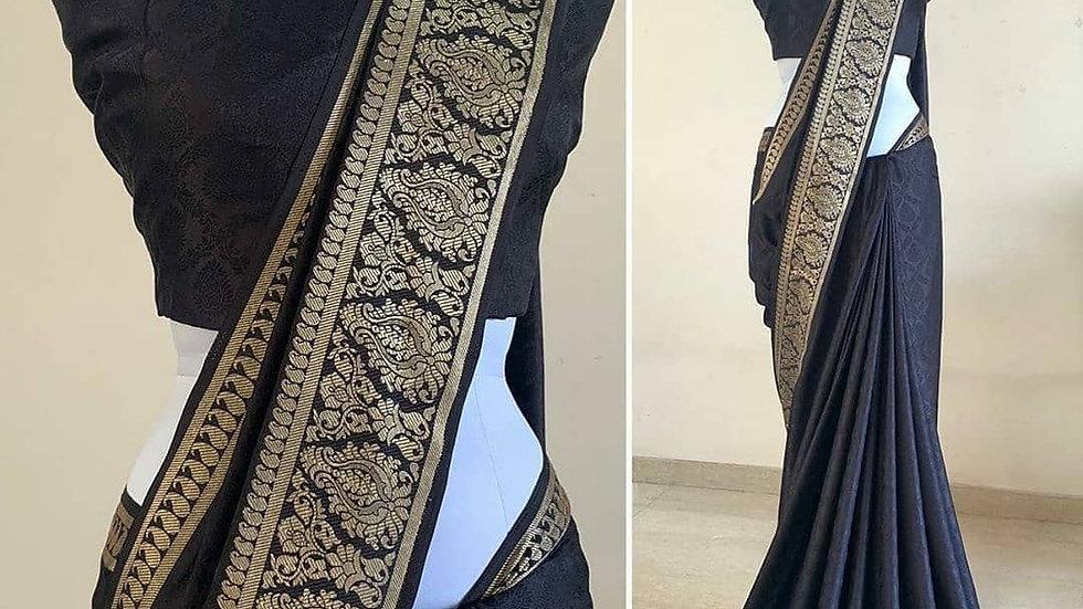 Black Trendy Sana silk sari