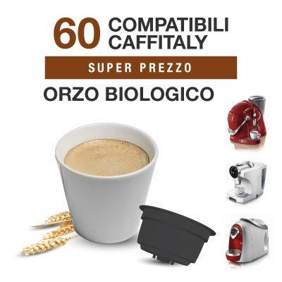 60 capsule orzo solubile Bio compatibili CAFFITALY [0,16€ /capsula]