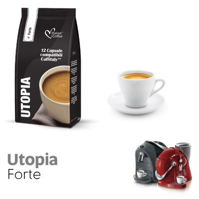 96 coffee capsules Utopia blend CAFFITALY compatible [0,17 € / capsule]