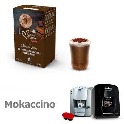 60 Kapseln Mokaccino Italienischer Kaffee kompatibel LAVAZZA BLAU UND SCHWARZ [0,16 € / Kapsel]