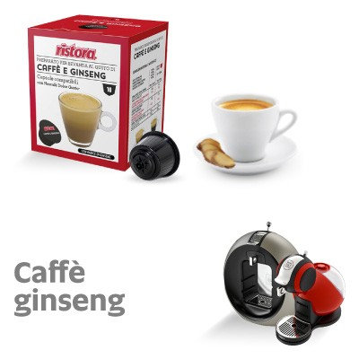 10 Capsules compatible with Nescafè Dolce Gusto Ristora Caffè and Ginseng