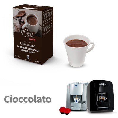 60 capscioccolato Italian coffee compat LAVAZZA BLUE AND BLACK [0,16 € / capsule]