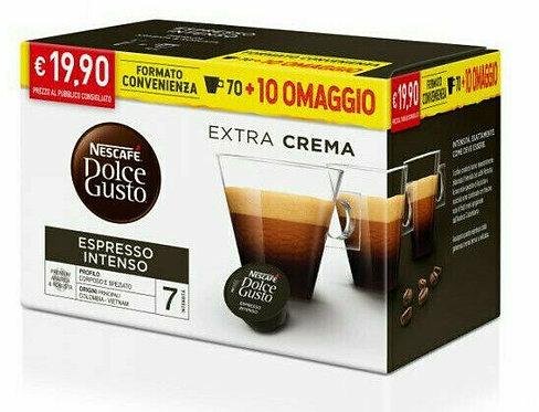 80 capsules de café Nescafè, goût sucré intense