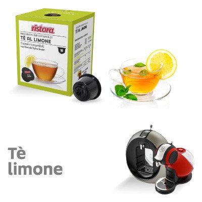 10 Capsules Ristora Lemon tea compatible DOLCE GUSTO [0,28 € / capsule]