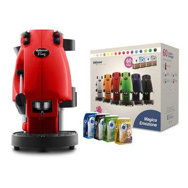 Frog Didiesse red coffee pod machine + 60 free pods