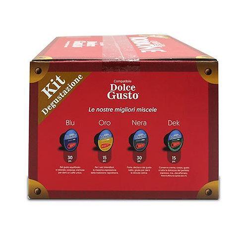 90 capsules Bourbon tasting kit compatible DOLCE GUSTO [0,20 € / capsule]