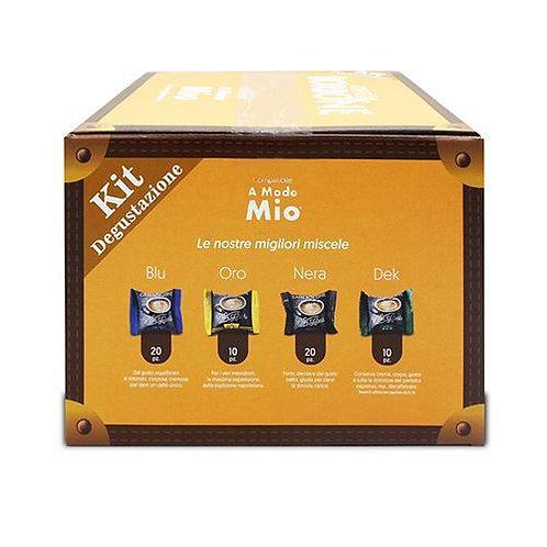 60 capsule caffè Borbone kit degustazione compatibili A MODO MIO [0,16€/capsula]