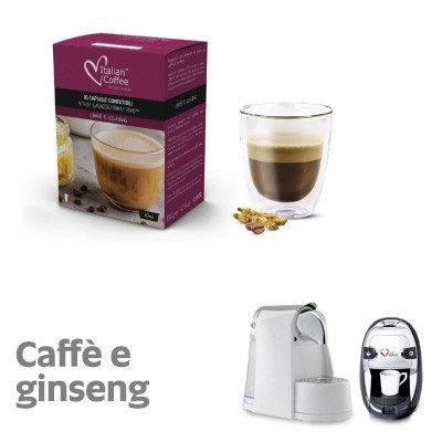 50 mit italienischem Kaffee kompatible Ginseng-Kaffeekapseln UNTERZEICHNUNG [0,18 € / Kapsel]