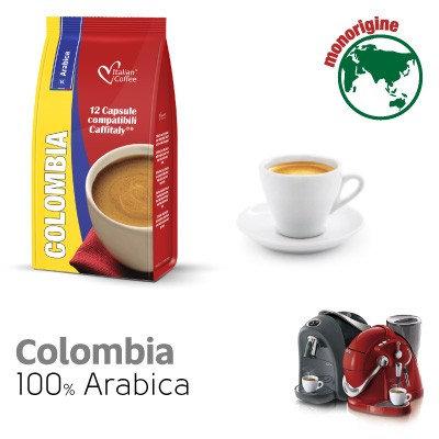 96 Kapseln Kolumbien mischen 100% Arabica-kompatibel CAFFITALY [0,18 € / Kapsel]