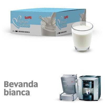 25 capsule Latte bevanda bianca compatibili espresso point