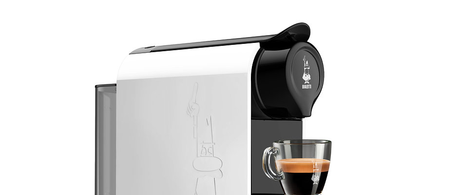 Gioia WHITE Espresso Machine with Bialetti Capsules + 48 Capsules (OFFER)
