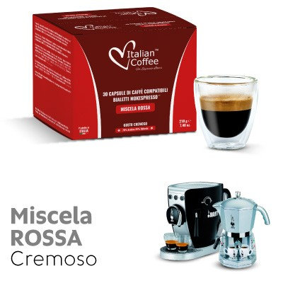 30 Kapseln Mokespresso Red Mix kompatibel BIALETTI [0,17 € / Kapsel]