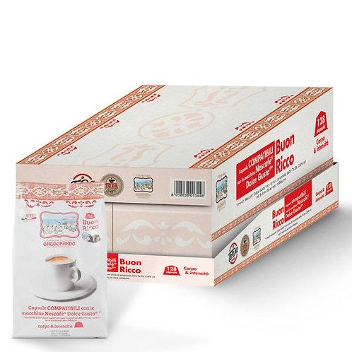 128 capsule caffè Gattopardo dolce&ricco compatibili DOLCE GUSTO [0,22€/capsula]