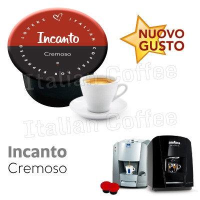50 coffee capsules creamy blend incanto Italian coffee Lavazza blue and in black