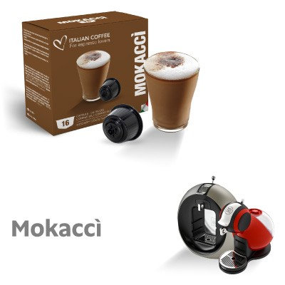 96 Mokaccino Caps compatible Dolce Gusto