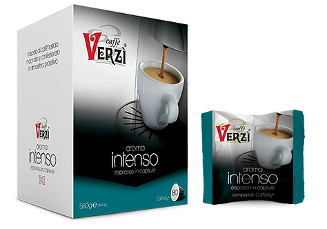 Caffè Verzì 80 capsule INTENSO compatibili Caffitaly