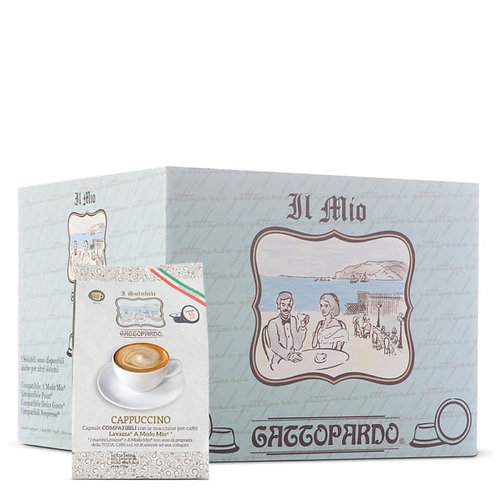 64 Gattopardo cappuccino capsules compatible IN MY WAY [0,16 € / capsule]