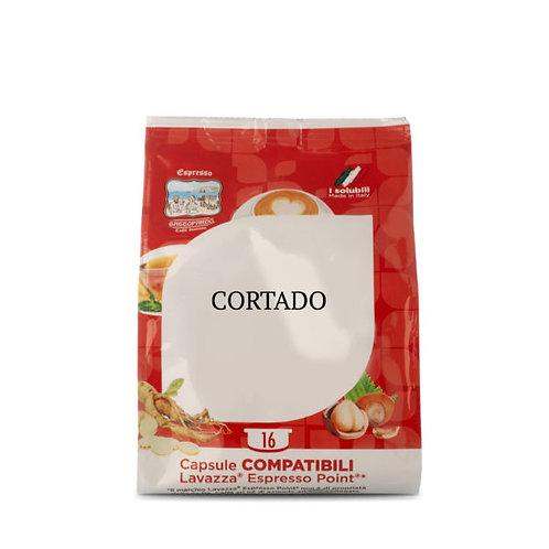 16 capsule cortado Gattopardo compatible espresso point[0.18€/caps]