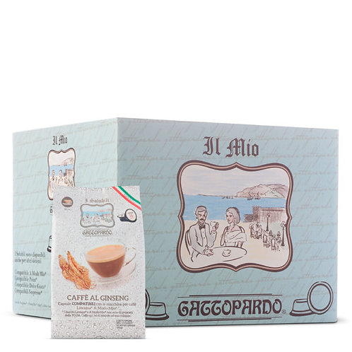64 Gattopardo compatible ginseng coffee capsules MY WAY [0,18 € / capsule]