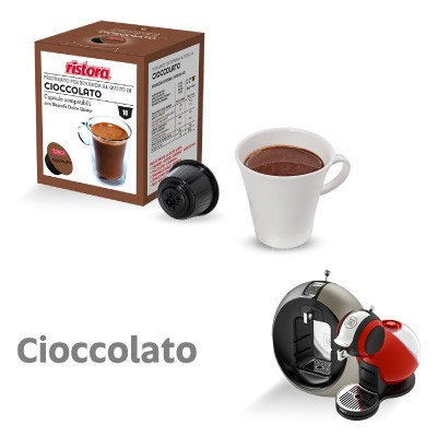 10 Nescafè Dolce Gusto Ristora Schokoladenkompatible Kapseln