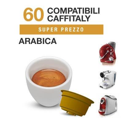 60 Kaffeekapseln Arabica Blend kompatibel CAFFITALY [0,16 € / Kapsel]