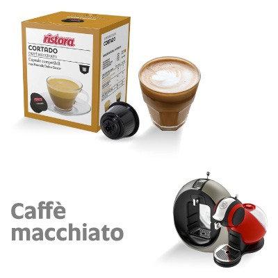 10 Kapseln. Ristora Kaffee Macchiato kompatibel NESCAFè DOLCE GUSTO [0,28 € / Kapsel]
