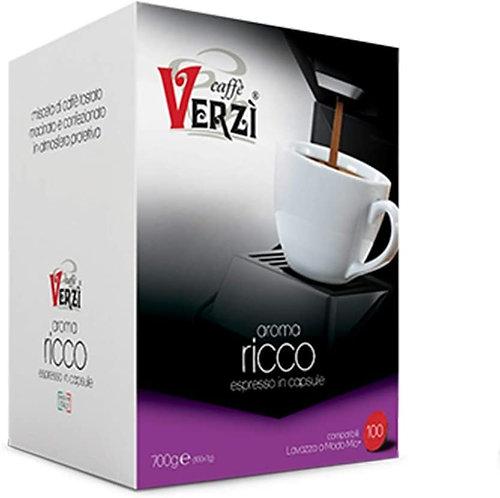 Caffè Verzì 100 capsule RICCO compatibili A MODO MIO