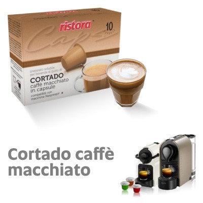 60 coffee capsules Cortado Ristora compatible NESPRESSO [€ 0.15 / capsule]