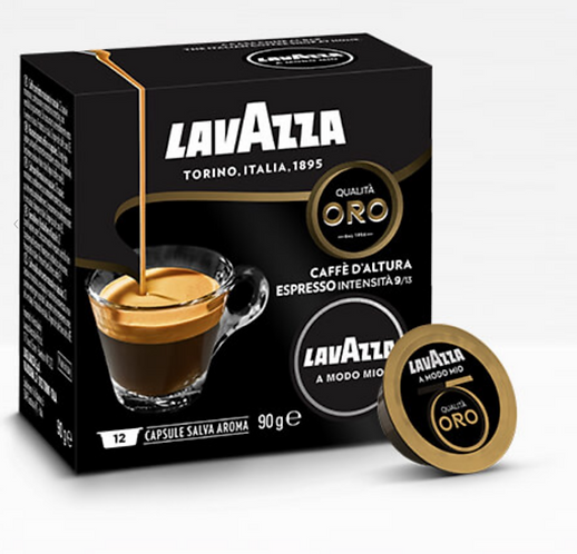 12 Lavazza offshore gold coffee capsules compatible in MY WAY [0,24 € / capsule]