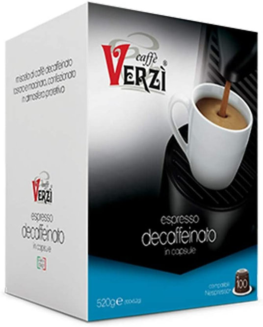 Caffè Verzì 100 capsule DECAFFEINATO compatibili NESPRESSO