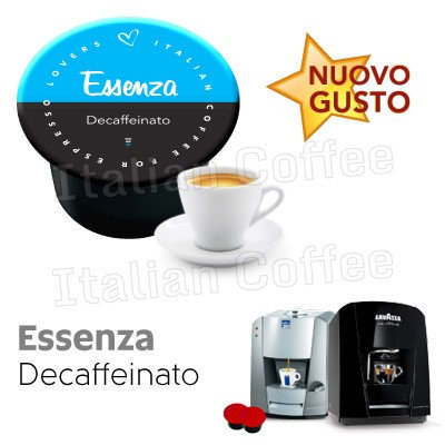 50 caps decaffeinated coffee compact essence LAVAZZA BLUE AND BLACK [0,13 € / capsule]